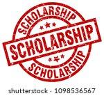 scholarship round red grunge... | Shutterstock .eps vector #1098536567