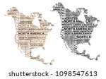 sketch north america letter... | Shutterstock .eps vector #1098547613