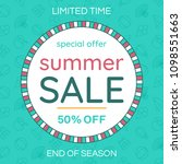 sale banner design template.... | Shutterstock .eps vector #1098551663
