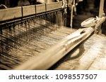 old weaving loom   closeup  ...   Shutterstock . vector #1098557507