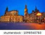 dresden sunset residenzschloss... | Shutterstock . vector #1098560783