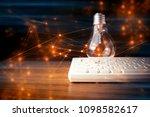 digital internet network with... | Shutterstock . vector #1098582617