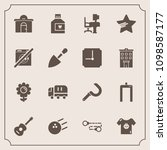 modern  simple vector icon set... | Shutterstock .eps vector #1098587177