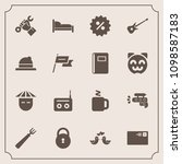 modern  simple vector icon set... | Shutterstock .eps vector #1098587183