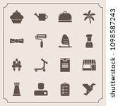 modern  simple vector icon set... | Shutterstock .eps vector #1098587243