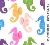 hand drawn vector seamless tile ... | Shutterstock .eps vector #1098593753