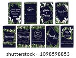 set of wedding invitations with ... | Shutterstock .eps vector #1098598853