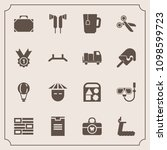 modern  simple vector icon set... | Shutterstock .eps vector #1098599723