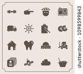 modern  simple vector icon set... | Shutterstock .eps vector #1098599843