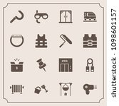 modern  simple vector icon set... | Shutterstock .eps vector #1098601157