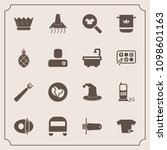 modern  simple vector icon set... | Shutterstock .eps vector #1098601163