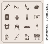 modern  simple vector icon set... | Shutterstock .eps vector #1098601217