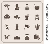 modern  simple vector icon set... | Shutterstock .eps vector #1098604247