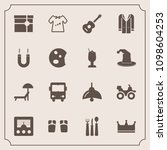 modern  simple vector icon set... | Shutterstock .eps vector #1098604253