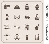 modern  simple vector icon set... | Shutterstock .eps vector #1098604283