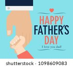 happy fathers day flyer  banner ... | Shutterstock .eps vector #1098609083