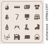 modern  simple vector icon set... | Shutterstock .eps vector #1098611597