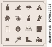 modern  simple vector icon set... | Shutterstock .eps vector #1098611723