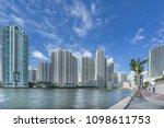 the river walk in the miami... | Shutterstock . vector #1098611753