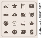 modern  simple vector icon set... | Shutterstock .eps vector #1098611807