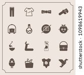 modern  simple vector icon set... | Shutterstock .eps vector #1098619943