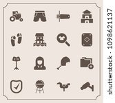 modern  simple vector icon set... | Shutterstock .eps vector #1098621137