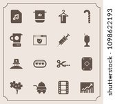 modern  simple vector icon set... | Shutterstock .eps vector #1098622193