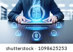 artificial intelligence machine ... | Shutterstock . vector #1098625253