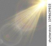 sunlight  special lens flare ... | Shutterstock .eps vector #1098639833