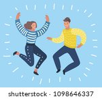 vector cartoon illustration of... | Shutterstock .eps vector #1098646337