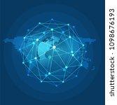 digital network connections ... | Shutterstock .eps vector #1098676193