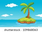 illustration of a palm tree on... | Shutterstock . vector #109868063