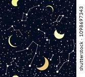 space galaxy night vector... | Shutterstock .eps vector #1098697343