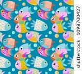 fish graphic vector design... | Shutterstock .eps vector #1098700427
