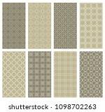 set of vertical seamless line... | Shutterstock .eps vector #1098702263