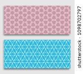 seamless horizontal borders... | Shutterstock .eps vector #1098702797