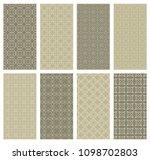 set of vertical seamless line... | Shutterstock .eps vector #1098702803