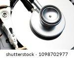 data security concept. hard... | Shutterstock . vector #1098702977
