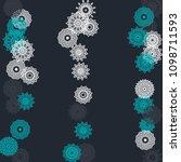 simple outline mandalas on... | Shutterstock .eps vector #1098711593