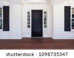 front door of classic style home | Shutterstock . vector #1098735347