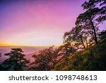 sunrise or sunset over the...   Shutterstock . vector #1098748613