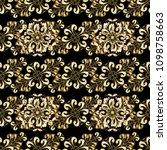 golden element on a black ... | Shutterstock .eps vector #1098758663