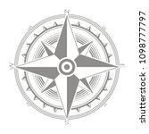 vector icon with compass rose... | Shutterstock .eps vector #1098777797