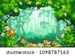 fantastic forest of flowers ...   Shutterstock .eps vector #1098787163