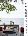 balcony by the sea | Shutterstock . vector #1098801713