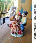 Small photo of This statue define love of boy any girl