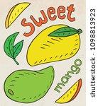 sweet juicy mango. summer... | Shutterstock .eps vector #1098813923