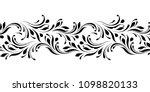 outline floral seamless pattern.... | Shutterstock .eps vector #1098820133