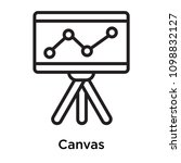 canvas icon isolated on white... | Shutterstock .eps vector #1098832127