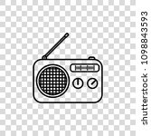 radio vector icon | Shutterstock .eps vector #1098843593